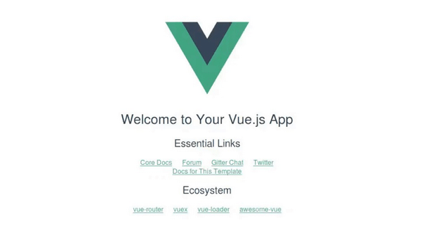 vue js hello world